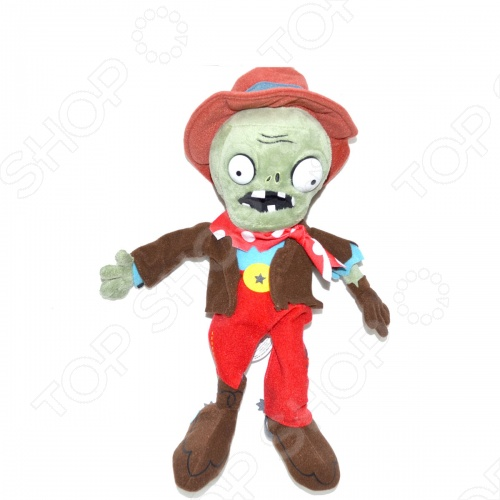 Мягкая игрушка Plants vs Zombies «Зомби-ковбой»Мягкие игрушки<br>Игрушка мягкая Plants vs Zombies Зомби-ковбой это замечательный подарок малышу, обожающему игру Plants vs Zombies Растения против Зомби ! Этот персонаж вызовет настоящий восторг, поднимет настроение и вызовет улыбку. Игрушка изготовлена из высококачественных материалов, которые абсолютно безвредны для ребенка. Забавный персонаж украсит любую детскую комнату и принесет радость и веселье во время игр. Игрушка мягкая Зомби-ковбой поможет развить тактильные навыки, зрительную координацию и мелкую моторику рук.<br>