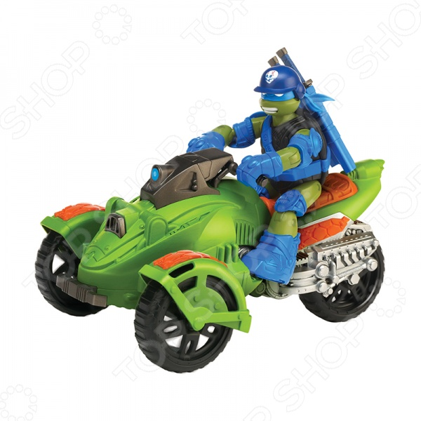 Трехколесный вездеход с фигуркой Nickelodeon «Черепашки-Ниндзя» трицикл с фигуркой черепашки ниндзя