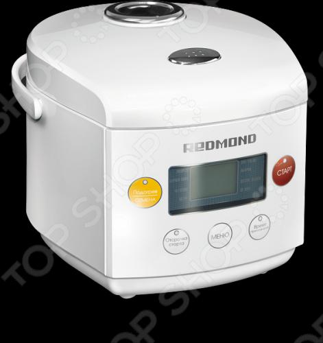 Мультиварка Redmond RMC-02 модель, созданная специально для приготовления питания для детей с самого раннего возраста. К примеру, специально разработанная программа ДЕТСКОЕ ПИТАНИЕ предназначена для щадящей обработки продуктов с сохранением всех полезных свойств пищи. Программа ЙОГУРТ позволяет готовить в домашних условиях натуральный йогурт и ряженку. В чаше объемом 1,6 литра можно готовить специально для ребенка небольшие порции молочных каш, фруктового, овощного и мясного пюре, супов и других блюд. Будучи малогабаритным прибором, REDMOND RMC-02 может послужить отличной маминой помощницей даже во время выездов с детьми за город или в отпуске. Просто возьмите мультиварку с собой! Специальный раздел книги посвящен блюдам для всей семьи, которые вы также легко и просто сможете готовить в мультиварке REDMOND RMC-02, не затрачивая усилий и не простаивая часами у плиты. В мультиварке REDMOND RMC-02 реализованы 8 автоматических программ приготовления блюд:  ЭКСПРЕСС для приготовления риса, гречки и других рассыпчатых каш из круп.  МОЛОЧНАЯ КАША для приготовления молочных каш из различных видов круп.  РИС - КРУПЫ для приготовления риса, каш и блюд детского меню.  ЙОГУРТ для приготовления домашнего йогурта, а также для расстойки дрожжевого теста.  СУП - ТУШЕНИЕ для варки бульонов, супов, компотов и разных напитков, для тушения мяса, приготовления холодцов и других блюд, требующих длительной тепловой обработки.  ВЫПЕЧКА для приготовления кексов, бисквитов, творожных и овощных запеканок, омлетов, пирогов и тортов.  ДЕТСКОЕ ПИТАНИЕ для приготовления риса, гречки и рассыпчатых каш из круп, нежных овощных, фруктовых и мясных пюре, легких бульонов, компотов.  НА ПАРУ для приготовления на пару овощей, диетических блюд из мяса, птицы и рыбы, котлет и гарниров, блюд вегетарианской кухни и детского меню. Функция отложенного старта позволяет приготовить блюдо к нужному времени с отсрочкой до 24 часов. Установите нужное значение на таймере, и блюдо будет готово к завтраку или приходу 