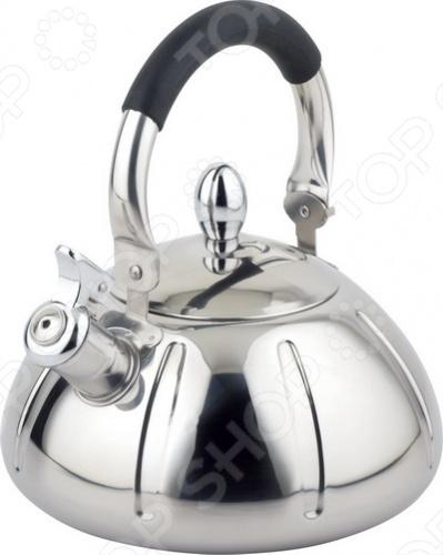 Чайник со свистком Bohmann BH-9929Чайники со свистком и без свистка<br>Чайник Bohmann BH-9929 оборудован свистком для определения закипания воды и изготовлен из качественной нержавеющей стали. Корпус из стали долговечен, не подвергается коррозии и обладает антиаллергенными свойствами. Ручка модели очень удобна и не нагревается, т.к. изготовлена из качественного термостойкого пластика. Изящная форма чайника и отполированная поверхность придают ему эстетичности на столе.<br>