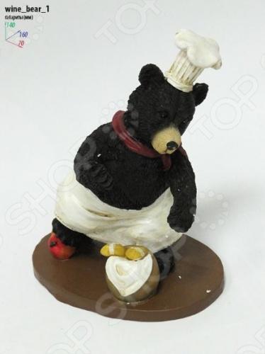 Подставка для вина Drivemotion Медведь-повар с бутылкой вверх ногами