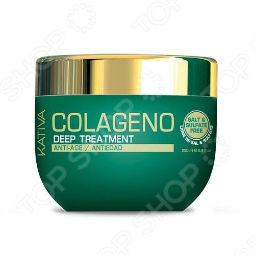 Маска для ухода за волосами KativaМаски и масла для волос<br>Маска для ухода за волосами Kativa - интенсивно восстанавливает ослабленные волосы и защищает их от старения. Эффективно ухаживает за волосами всех типов, содержет коллагеновый комплекс и масло каритэ. Особая формула быстра возвращает волосам, упругость, силу, гладкость и естественный блеск.<br>