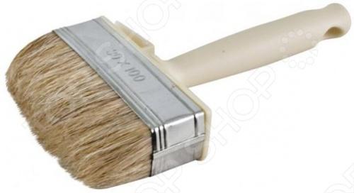 Макловица Мини 01654 50x150 мм с натуральной светлой щетиной и пластиковой ручкой. Подойдет для работы со всеми типами лакокрасочных материалов.