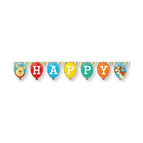 Гирлянда детская Procos «Винни-Пух и Пятачок-Happy Birthday»