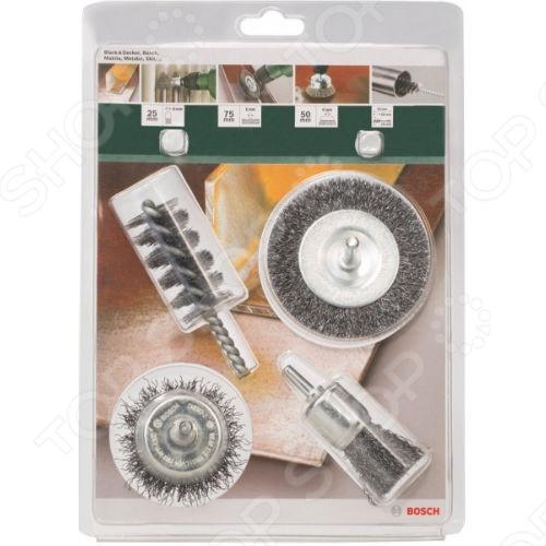 Набор щеток шлифовальных Bosch 2609256553 щетка аметиста на породе кольский п ов 95х84х70 мм