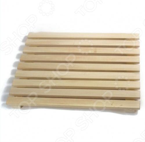 Решетка на пол Банные штучки для бани и сауны наборы аксессуаров для бани proffi набор подарочный для бани и сауны звезда веник березовый шапка банная