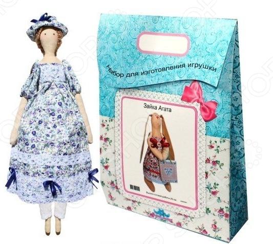 Подарочный набор для изготовления текстильной игрушки Кустарь «Софья»Изготовление кукол<br>Подарочный набор для изготовления текстильной игрушки Кустарь Софья это возможность своими руками сделать игрушечного друга. Очаровательная кукла Софья 42 см , изготовленная в стиле Tilda, одинаково понравится детям и взрослым. Она может стать прекрасным подарком близкому человеку, а может поселиться в вашей комнате. Игрушку очень просто изготовить, следуя подробной инструкции, приложенной к набору. Для прорисовки лица игрушки вы можете использовать акриловые краски или растворимый кофе, а для тонирования клей ПВА. В набор входят: 1.Ткань для тела 100 хлопок , ткань для одежды 100 хлопок , суперпух для набивки. 2.Декоративные элементы, пуговицы, нитки для волос, ленточки, кружево, украшения. 3.Инструмент для набивания игрушки, выкройка, инструкция.<br>
