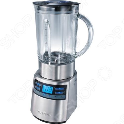 Блендер Profi Cook PC-UM 1006Блендеры<br>Блендер Profi Cook PC-UM 1006 в корпусе из нержавеющей стали предназначен для приготовления пюре, взбивания, измельчения и смешивания. Прибор идеально подходит для смешивания фруктовых и фитнес-напитков, молочных коктейлей, супов-пюре, соусов и детского питания. Специальный режим предназначен для колки льда. Блендер оснащен вместительным стеклянным кувшином с мерной шкалой объемом 1,8 литра, в крышке которого есть отверстие для добавления ингредиентов непосредственно во время работы. Колпачок отверстия для пополнения может также использоваться как измерительный стакан. Удобное и понятное управление прибором обеспечивают 6-уровневый электронный переключатель скорости и включения импульсного режима, а также LCD-дисплей с подсветкой. Для дополнительного удобства в эксплуатации и безопасности в работе блендер оборудован защитным выключателем устройство может работать только с установленной чашей , таймером с сигналом, резиновой присоской, обеспечивающей устойчивое положение и отсеком для хранения сетевого шнура. Благодаря надежному профессиональному двигателю мощностью 1200 Вт, рассчитанному на длительный срок эксплуатации и ножу с шестью лезвиями из нержавеющей стали легко снимается для чистки универсальный блендер Profi Cook PC-UM 1006 может с успехом использоваться не только дома, но и в небольшом кафе или баре.<br>