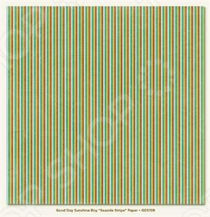 фото Бумага для скрапбукинга двусторонняя Morn Sun Seaside Stripe, купить, цена