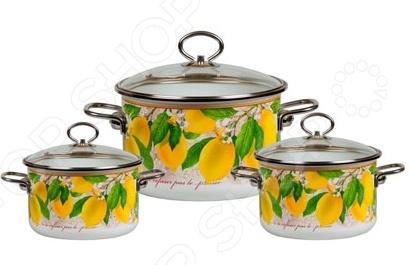 Набор кастрюль Vitross Limon №13 набор кастрюль 3 предмета vitross limon 1db135s