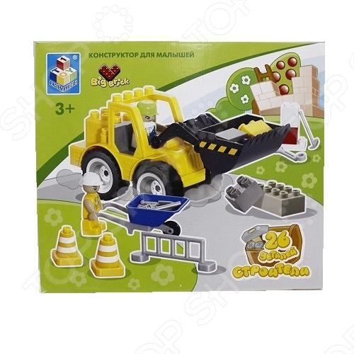Конструктор 1 TOY Т53536 Строители это отличный конструктор для детей, в котором он найдет все необходимый детали для создания своего строительного комплекса. Большие детали подойдут для детей старше трех лет, они отлично различимы для ребенка и он точно поймет что с ними необходимо делать. Конструкторы такого типа развивают пространственное и логическое мышление, фантазию, творческие способности и мелкую моторику рук. В комплекте есть минифигурки людей. Конструктор 1 TOY Т53536 Строители содержит 26 деталей.