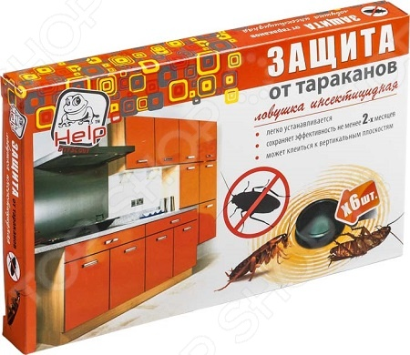 Ловушки для тараканов Help 80271 кукарача средство от тараканов 50 мл в москве