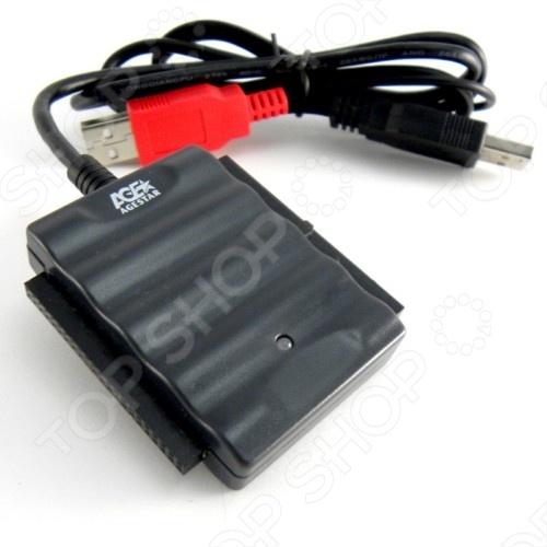 Многофункциональный адаптер AgeStar IUBCPАксессуары для комплектующих<br>Многофункциональный адаптер AgeStar IUBCP представляет собой своеобразный преобразователь сигнала устройств, оснащенных ATA IDE-интерфейсом, в более распространенный и удобный в использовании USB-формат. Устройство позволяет подключить одновременно сразу несколько жестких дисков или дисковых приводов разных форматов. Для формата 1.8 2.5 предусмотрена подача питания по USB-шине, а для формата 3.5 5.25 предоставляется внешний блок питания.<br>