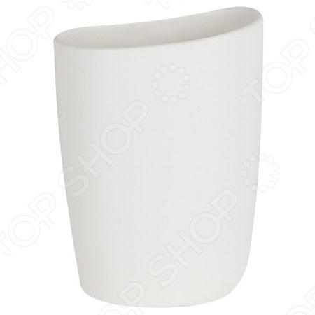 Стакан керамический Spirella ETNAАксессуары для ванной комнаты<br>Стакан керамический Spirella ETNA - это прекрасный аксессуар в вашу ванную комнату. Благодаря такой вещице зубные щетки всегда будут на месте в этом красивом и стильном стакане. Стакан выполнен из керамики. Керамика безопасна, надежна и долговечна, потому стакан сохранит свой внешний вид надолго. Кроме того, изделия из керамики смотрятся стильно и всегда на пике моды. Высота: 13 см. Ширина: 9,5 см.<br>