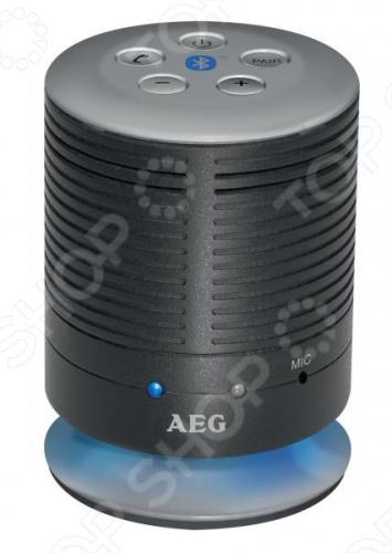 Система акустическая беспроводная AEG BSS 4809 - высококачественные Bluetooth-колонки, воспроизведение до 10 часов музыки через Bluetooth или AUX-IN. Система имеет LED-подсветку, регулятор громкости, аккумулятор и USB кабель для него в комплекте. Система акустическая беспроводная AEG BSS 4809 идеально подходит для беспроводного соединения через Bluetooth A2DP, дальность до 15 м , например, со смартфоном, планшетом, или другим устройством, поддерживающим связь по технологии Bluetooth. Система для передачи музыкальных файлов или трансляции интернет-радио. Функция громкой связи, совместимость с самыми популярными моделями мобильных телефонов, воспроизведение через динамик, автообнаружение нажатием кнопки, встроенный микрофон.