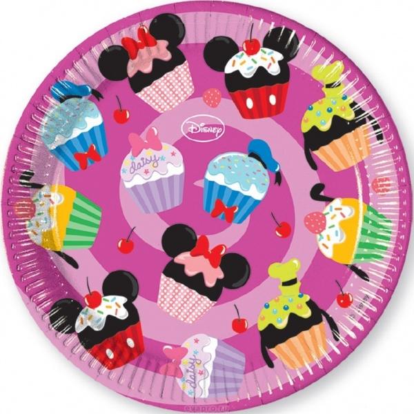 Тарелки одноразовые Procos «Микки и его друзья - сладости» стаканы пластиковые procos микки и его друзья сладости