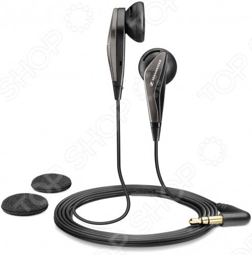 Наушники-вкладыши Sennheiser MX 375 для прослушивания музыки. Совместимы с устройствами, имеющими разъем mini jack 3.5 мм. Длина симметричного кабеля составляет 1.2 метра, на конце позолоченный L-образный штекер. В комплекте одна пара сменных амбушюр.