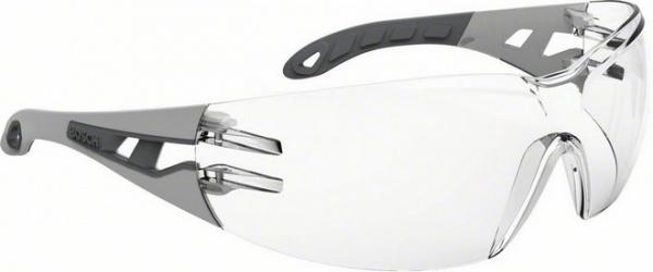 Очки защитные с дужками Bosch GO 2C представляют собой необходимый аксессуар при выполнении монтажных и строительных работ. Модель предназначена для защиты глаз от ультрафиолетовых лучей, попадания пыли, стружки и других вредных веществ. Очки изготовлены из прозрачного поликарбоната, оснащены удобными дужками и эргономичной оправой, обеспечивающей хорошую боковую защиту и широкий обзор. Специальное покрытие устойчиво к появлению мелких царапин снаружи и запотеванию очков изнутри. Изделие изготовлено в соответствии с европейскими стандартами в области средств индивидуальной защиты глаз EN 166.
