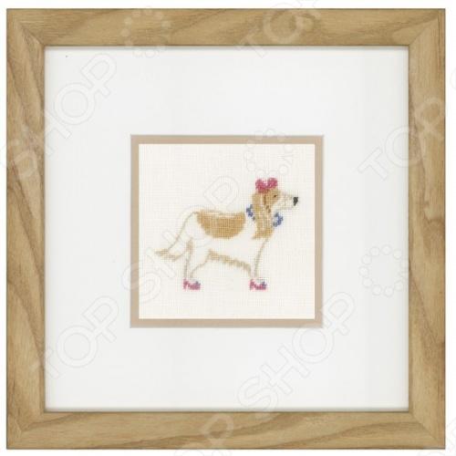Набор для вышивания крестиком Lanarte «Собака с розовым бантом»Наборы для вышивания<br>Набор для вышивания крестиком Lanarte Собака с розовым бантом это набор для вышивания, который точно понравится вашей дочке, ведь с его помощью так легко создать красивую картину! С помощью элементов набора вы сможете создать пейзаж, который будет схож со старыми фотоснимками. Цвета передадут незабываемую атмосферу вышитых картин, картина скрасит ваш досуг и позволит отточить свои навыки в сфере вышивания. Своими руками вы сможете создать уникальные изображения, которыми можно украсить дом или офис.<br>