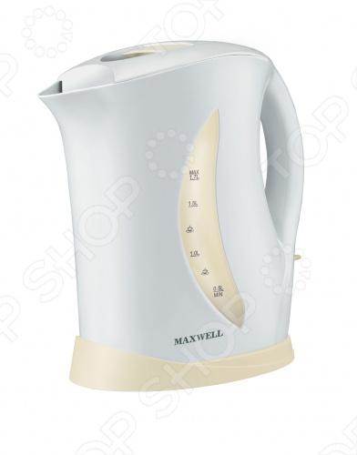 Чайник Maxwell MW-1006Чайники электрические<br>Чайник Maxwell MW-1006 объемом 1.7 литра с корпусом из термостойкого пластика. Долго сохраняет температуру воды. Открытый нагревательный элемент. Предусмотрено аварийное отключение в целях безопасности. Чайник выключается при закипании воды или недостаточном количестве жидкости. Съемный фильтр от накипи. Работает от сети 220-240 В. Мощность 2200 Ватт.<br>