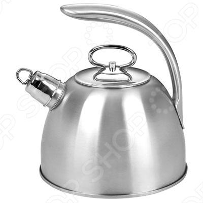 Чайник со свистком BartonSteel BS-7652Чайники со свистком и без свистка<br>Чайник BartonSteel BS-7652 изготовлен из качественной нержавеющей стали и оборудован свистком для определения закипания воды. Металлическая ручка эргономичной формы удобно ложится в ладонь. Изящная форма чайника и отполированная поверхность придают ему эстетичности на столе. Капсульное дно с алюминиевой вставкой, делает чайник подходящим для всех типов плит, включая индукционные.<br>