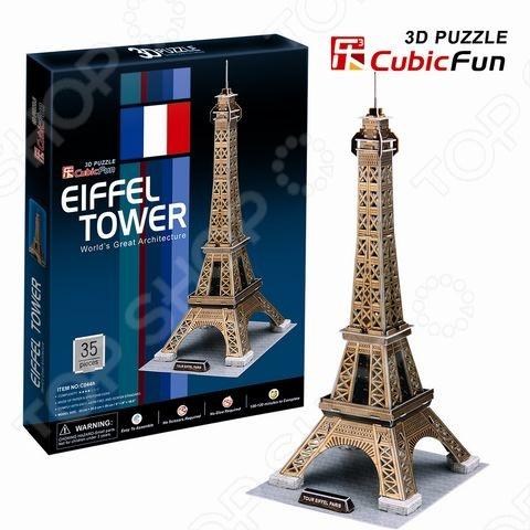 Пазл 3D CubicFun «Эйфелева Башня»Пазлы 3D<br>Игрушка Эйфелева Башня Франция станет прекрасным подарком для вашего малыша. Такой яркий и обучающий пазл легко собирается без единого инструмента. В процессе игры у ребенка развивается моторика, а также фантазия. Все составляющие игры выполнены из качественного материала, который не вызывает аллергии. К особенностям можно отнести - развитие творческих способностей, формирование мышления, речи, а также внимания. Данная модель расширяет кругозор ребенка и стимулирует к познанию новой информации.<br>