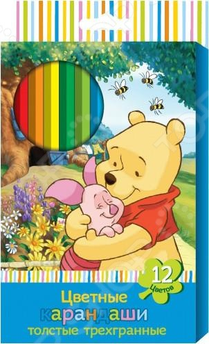 Набор цветных карандашей Disney «Винни»Карандаши<br>Набор цветных карандашей Disney Винни прекрасно подходит для того, чтобы ваш малыш реализовал свои творческие способности и воплотил собственные фантазии на бумаге. Яркие, удобные и безопасные карандаши имеют эргономичную форму, что позволяет детским рукам не боятся усталости даже при длительном рисовании.<br>