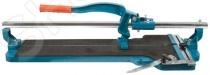 Плиткорез на подшипниках монорельсовый FIT Профи применяется для резки настенной и напольной плитки с максимальным размером 600 мм. Благодаря шести регулируемым подшипникам качения обеспечивается плавный ход по направляющей плиткореза. В плиткорезе установлен сменный твердосплавный режущий ролик диаметром 22 мм. На рабочей поверхности предусмотрены мягкие накладки, которые предотвращают скольжение плитки во время работы.