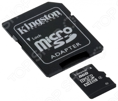 Карта памяти Kingston SDC4/8GB microsdhc kingston 16gb class 4 sdc4 16gbsp