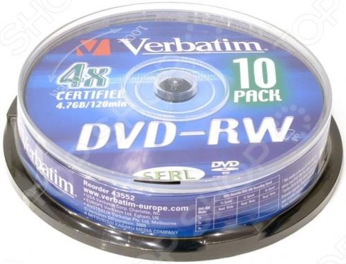 Набор дисков Verbatim 43552 новый комплект оптических дисков DVD-RW с возможностью перезаписи данных , предназначенных для хранения и копирования любых видов цифровых данных. Комплект состоит из коробки с 10 дисками, память которых составляет 4.7 гигабайт, а скорость копирования 4x. Технология Advanced AZO , обеспечивает высочайшее качество любой записи. Секрет популярности данного вида цифрового носителя является быстрая скорость сохранения данных, их чтение и качественное воспроизведение звука и видео на некоторых устройствах, таких как аудио-системы, магнитолы и на DVD плеерах. Также, их очень легко уничтожать с помощью офисных шредеров.