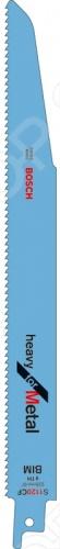 Набор пилок сабельных Bosch S 1120 CFНожовочные полотна<br>Набор пилок Bosch S 1120 CF предназначен для распиловочных работ по листовому металлу большой толщины, сплошным толстостенным трубам и профилям при помощи сабельной электроножовки. Для большей эффективности пилка имеет запатентованную геометрию зубьев 2x2 Tooth Geometry с шагом 2,5 3,2 мм. Общая длина составляет 225 мм. Качественное биметаллическое полотно отлично справится с толщиной листового металла от 4 до 12 мм, а с трубами и профилем до 175 мм.<br>