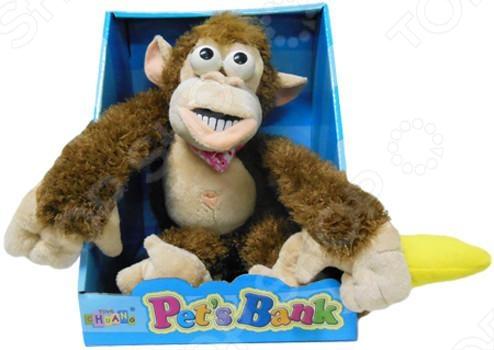 Мягкая игрушка интерактивная Обезьянка CL1166A игрушка интерактивная 31 век обезьянка f 003b р