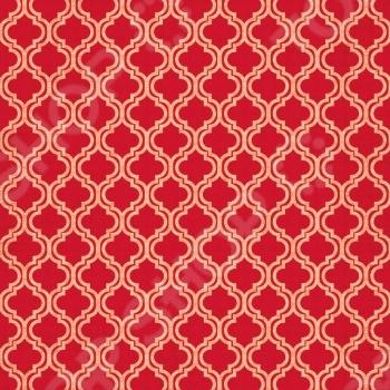 фото Бумага для скрапбукинга двусторонняя Teresa Collins Red Quatrefoil, купить, цена