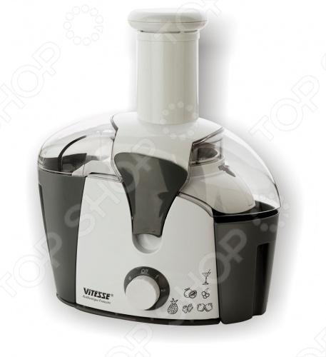 Соковыжималка Vitesse VS-219. Может переработать все виды овощей и фруктов. Корпус сделан из пластика. Детали из нержавеющей стали. Ножки у соковыжималки прорезинненые, что дает дополнительную устойчивость.  Количество скоростных режимов - 2  Объем резервуара для сока, л - 0,75  Объем резервуара для мякоти, л - 1,0  Мощность, Вт - 450  Параметры питания, В Гц - 220 50