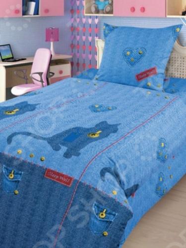 фото Комплект постельного белья 4You «Джинсовый кот», Детские комплекты постельного белья