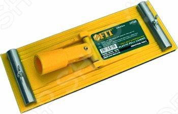 Товар продается в ассортименте. Цвет зависит от наличия товарного ассортимента на складе. Держатель для наждачной бумаги под телескопический стержень FIT 210х105 мм применяется для обработки плоских поверхностей.