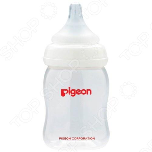 Бутылочка для кормления с широким горлышком Pigeon «Перистальтик Плюс»