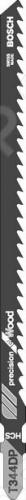 Набор пилок для лобзика Bosch T 344 DP HCS