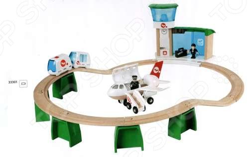 Монорельс в аэропорт с самолетом и поездом Brio 33301