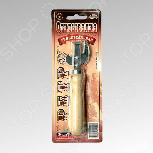 Открывалка универсальная Мультидом Ретро консервный нож мультидом an54 52 an57 4