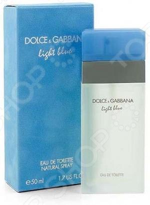 Туалетная вода для женщин Dolce&Gabbana Light blue. Объем: 50 мл туалетная вода mandarina duck blue men объем 50 мл вес 100 00