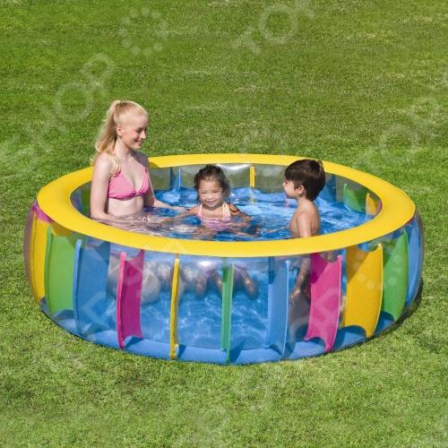 Бассейн надувной Bestway 51038В бассейн надувной bestway hot wheels 122х25 см 140 л