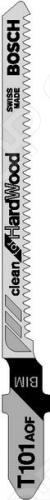 Набор пилок для лобзика Bosch Т 101 AOF BIM насадка для кухонного комбайна bosch muz8cc2