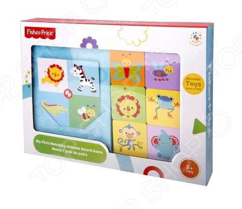 фото Игра настольная деревянная Fisher Price «Найди животное», Деревянные игрушки для малышей