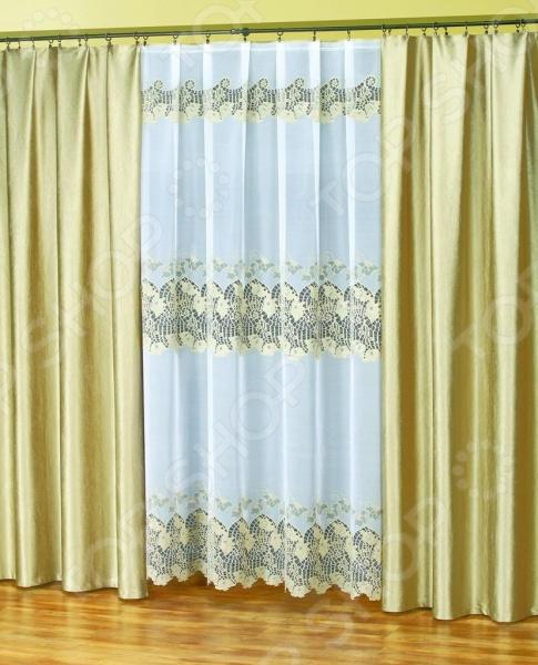 Комплект штор Haft 42230-250Шторы<br>Комплект штор Haft 42230-250 это качественный оконный занавес, который преобразит интерьер и оживит атмосферу, придав всей комнате домашний уют, завершенность и оригинальность. Шторы изготовлены из полиэстера, который практически не мнется, легко отстирывается от загрязнений, не притягивает пыль и не требует глажки. Благодаря этому ткань способна выдержать сотни стирок без потери цвета и прочности. Обычные материалы со временем выгорают, на них собирается пыль, появляются неприятные запахи. С полиэстером этого не происходит штора почти не пачкается и не впитывает запахи, при этом вы очень легко ее постираете и высушите. Интерьер квартиры или дома, в котором окна не украшены занавесом, сегодня трудно представить, поэтому шторы станут отличным подарком для любого человека. Купить шторы способ недорого, быстро и изящно преобразить дизайн домашнего интерьера!<br>