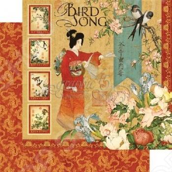 фото Бумага для скрапбукинга двусторонняя Graphic 45 Bird Song, купить, цена