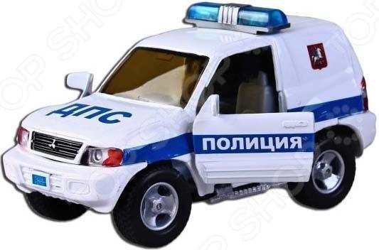 Модель полицейской машины 1:43 ДПС Полиция 87518 Модель машины 1:43 Пламенный Мотор Mitsubishi ДПС Полиция