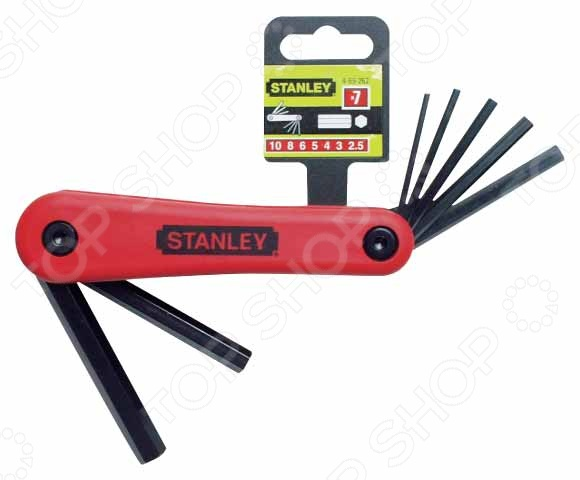 Набор шестигранников складных Stanley 4-69-261  набор шестигранников stanley triangle 0 95 961