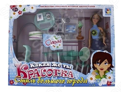 Набор мебели с куклой 1 TOY «Домашний офис»