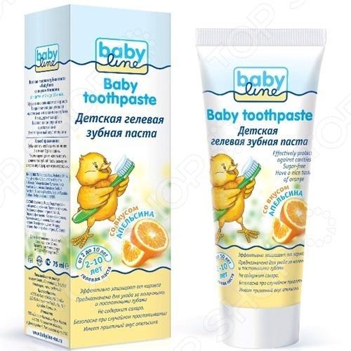 Паста зубная для детей Babyline «Апельсин» зубная паста babyline со вкусом банана 75 мл